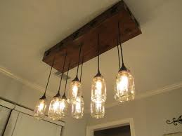 48 most ace dining room marvellous mason jar rectangle chandelier and hanging ceiling lighting ideas with