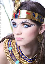 another view the pale princess egyptian styled make up with crystal accents by aeloisem on deviantart