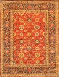 area rugs mahal hand knotted rust brown area rug