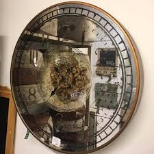 mirror wall clock beautiful on decor pertaining to amazing design with round moving cogs fresh