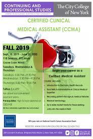 Certified Clinical Medical Assistant The City College Of