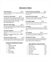 Breakfast Menu Template Create Your Own Pizza Templates Free