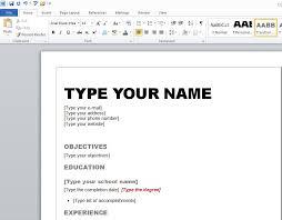 Resume Templates Microsoft Word Best Resume Format 2013