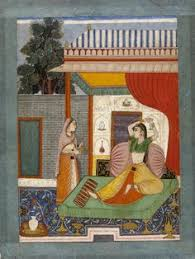 lalit ragini lady attended by maid rajasthan or deccan late 18th