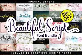 Beautiful Script Font Bundle Bundle Creative Fabrica