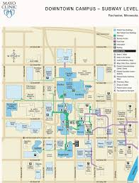 mayo clinic maplets Downtown Rochester Mn Map downtown campus subway level downtown rochester mn apartments