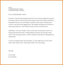Sample Of Rent Increase Letter Rent Increase Template Letter Woodnartstudio Co