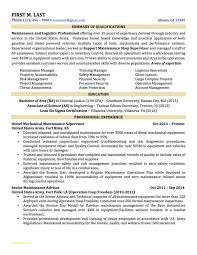 Military To Civilian Resume Templates Or Military To Civilian Resume
