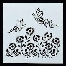 Sunflower Stencil Designs Us 0 39 15 Off 1pc Dragonfly Sunflower Shaped Reusable Stencil Airbrush Painting Art Diy Home Decor Scrap Booking Album Crafts Free Shipping On