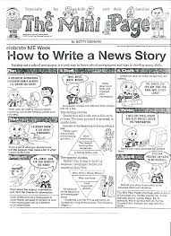 Newspaper Story Template Writing A Newspaper Article Template Nppa Co