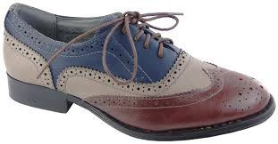 las odeon faux leather brogues multi office college school size 3 8