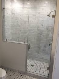 door with panel on knee wall medford lakes nj south jersey frameless shower
