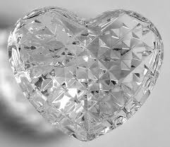 clear heart hand cooler no box waterford crystal paperweight by waterford crystal