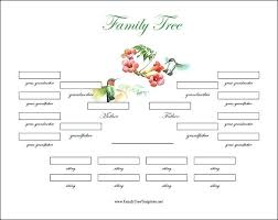 Family Tree Example Template Free Family Tree Template Business Printable Word