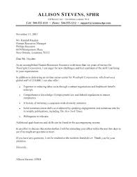 Example Of Cover Letter Human Resources My Wordpress Website
