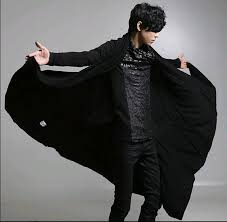 mens hip black hoo polo polo hop harajuku odd future tracksuit stage singer long men clothing