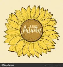 flor bela safra de girol olá outono mão extraídas letras de caneta de
