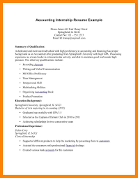 Resume For Internship Template Loan Operations Manager Sample
