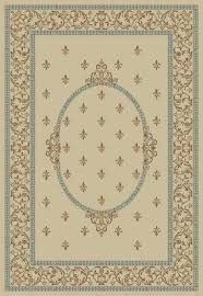 fleur de lis rug medallion ivory from jewel by concord global fleur de lis rug blue