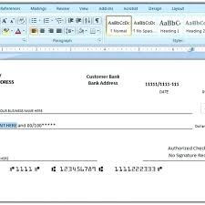 How To Print A Check Draft Template Free Writing Templates