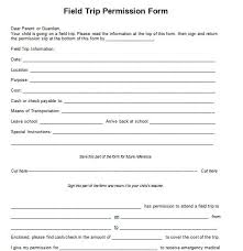 Permission Slip For Field Trips 35 Permission Slip Templates Field Trip Forms