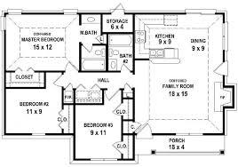 bedroom bath house plan less than square feet plans 40200