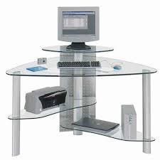 lovable glass computer desk corner small l shaped desk best small in glass corner computer desk