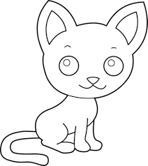 Small Picture Cute Kitty Cat Coloring Pages for Kids Womanmatecom