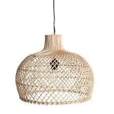 oneworld interiors rattan pendant lamp naturel 39cm rattan light l96 light