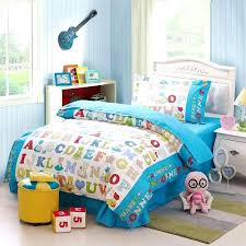 toddler boy twin bedding sets children alphabet cotton twin bedding set learning with reversible for comforter