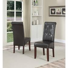 traditional faux leather parson dining chair set of 2 com chairs 4 duluthhomeloan