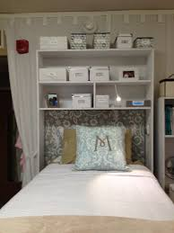 dorm cubby both over the bed and desk cubbies available good use of limited dorm room space