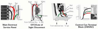 helpful electrical details for dimesnion one spas and most 220v model power branch circuit