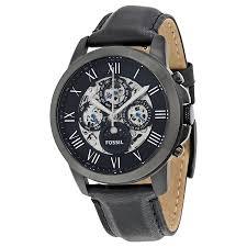 fossil grant complete calendar automatic black dial men s watch fossil grant complete calendar automatic black dial men s watch me3028