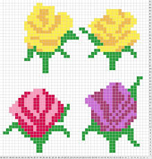Duplicate Chart Roses Chart For Duplicate Stitch Needlework Favorites