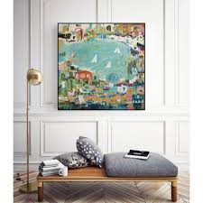 "Unbranded 30 in. x 30 in. ""Abstract Marina IV"" by Karen Fields Framed Wall  Art-WAG114347_3030CF - The Home Depot"