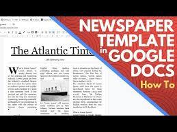 Newspaper Template Free Google Docs Editable Newspaper Template Google Docs How To Make A