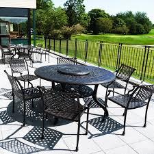 enlarge 6 seater cast aluminium amelia table 11