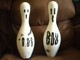 Decorated Bowling Pins Ghost Bowling Pin 39