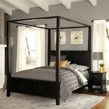 Bed Frame With Curtains Queen Size Canopy Four Poster – ClarkTaylor