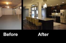 Basement Renovation with decorate unfinished basement walls with