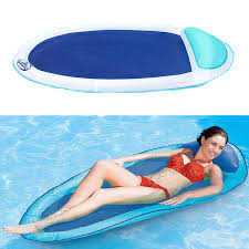 eachine1 swimming inflatable float summer floating water hammock pool lounge bed chair