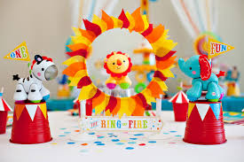 Homemade Circus Decorations Hostess With The Mostess First Birthday Party Ideas Diy