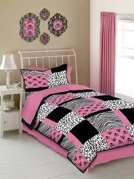 com veratex pink skulls bedding collection modern graphic kids bedroom 4 piece comforter set graphite full size home kitchen