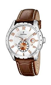 festina men s watch f16486 3 brown leather strap festina festina men s watch f16486 3 brown leather strap