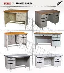 metal office tables. Iron White Office Desk With 6 Drawers / Plastic Handles Metal Table Tables
