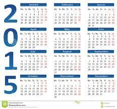 Simple 2015 Calendar 2015 Calendar Stock Vector Illustration Of Planning 41245211