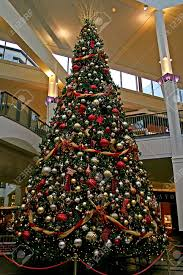 A giant christmas tree in a mall with decorations Stock Photo - 624481