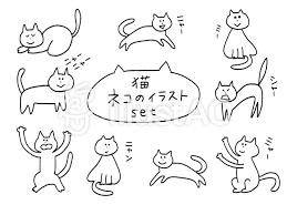 ネコ 猫 Cat 手書き 縁イラスト No 1225388無料イラストなら