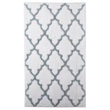 modern interesting target bathroom rugs home ogie gray scalloped diamonds pattern bath rug